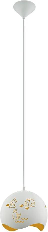 Eglo Eglo 97392 - Detský luster na lanku LAURINA 1xE27/60W/230V EG97392
