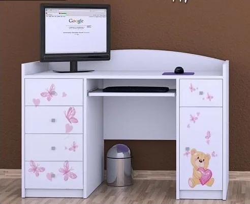 MAXMAX Detský písací stôl MÍŠA - TYP 1 pre dievča
