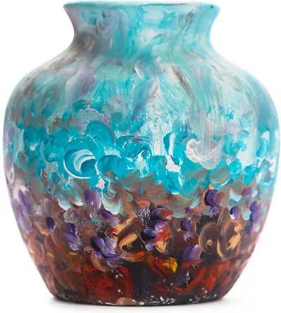 Maľovaná váza ELA 7x8 cm