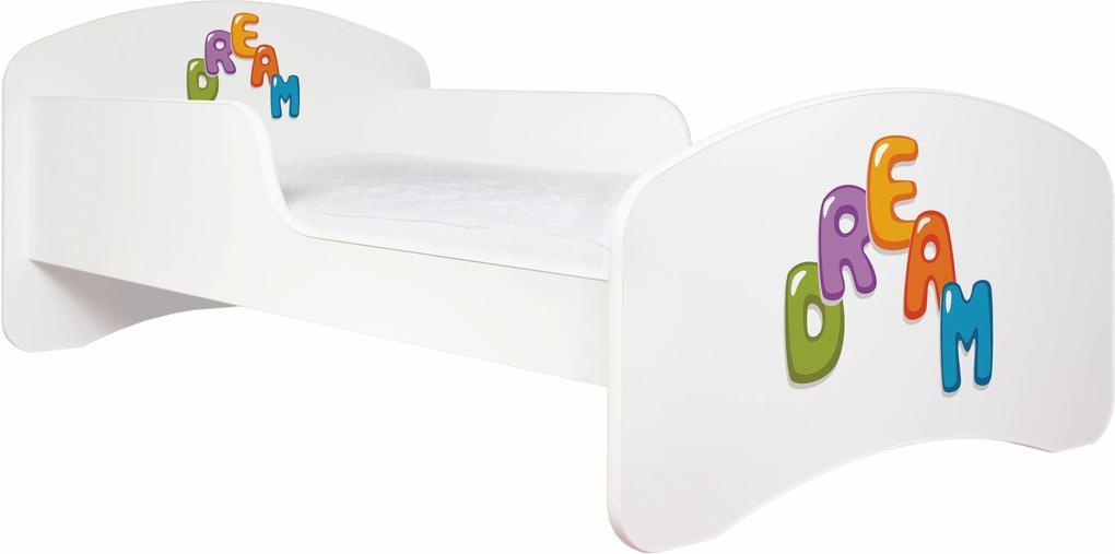 MAXMAX Detská posteľ bez šuplíku 160x80cm DREAM + matrace ZADARMO! 160x80 pre dievča|pre chlapca|pre všetkých NIE multicolor