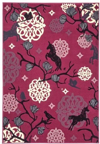Zala Living - Hanse Home koberce Kusový koberec Bambini 102794 Einhorn 140x200 cm - 140x200 cm