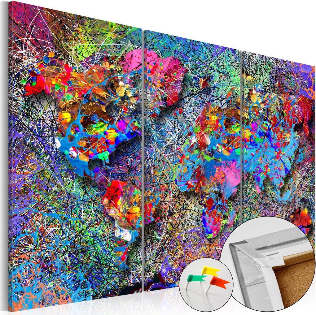 Obraz na korku - Colourful Whirl [Cork Map] 120x80