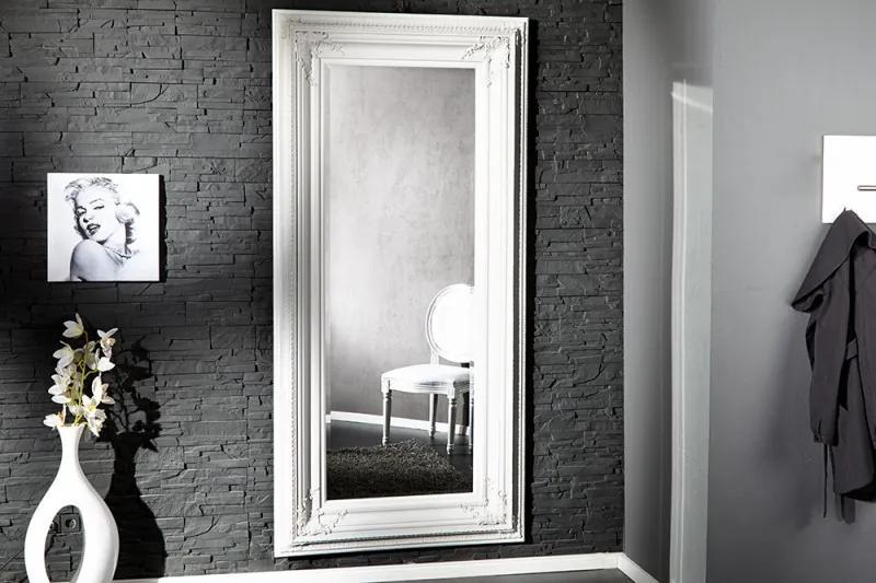 Nástenné zrkadlo Renaissance biele 180cm