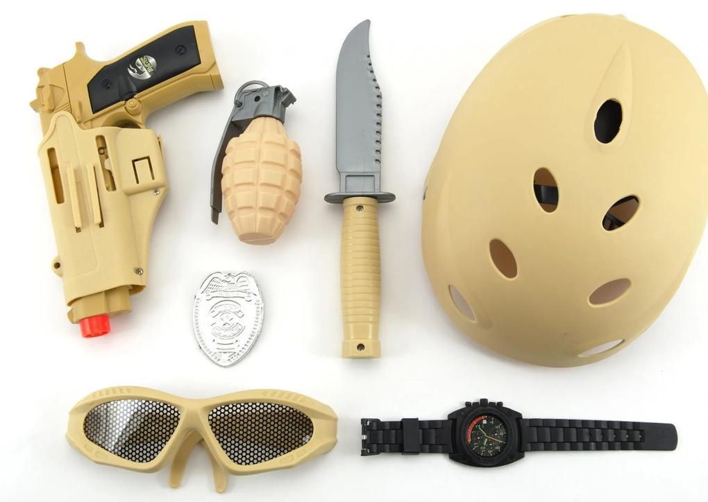 Teddies Vojenská súprava s helmou plast 7 ks ... 4518668932e