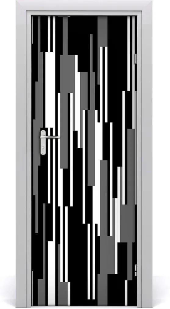 Fototapeta na dveře Černobílé linie