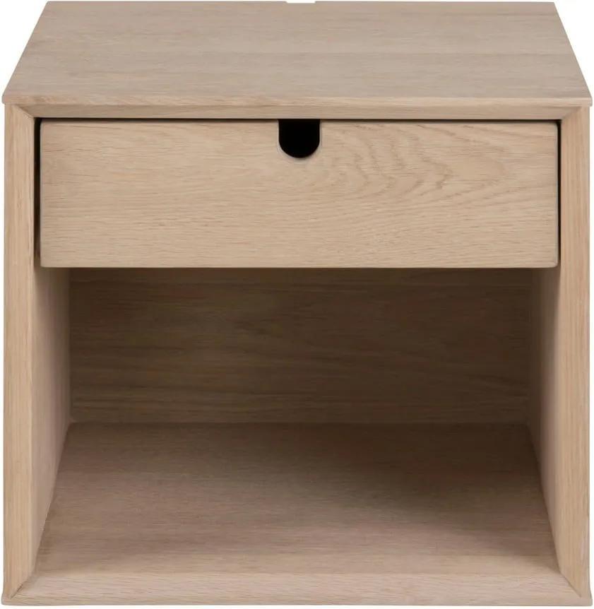 Závesný nočný stolík s 1 zásuvkou Actona Century, výška 33 cm