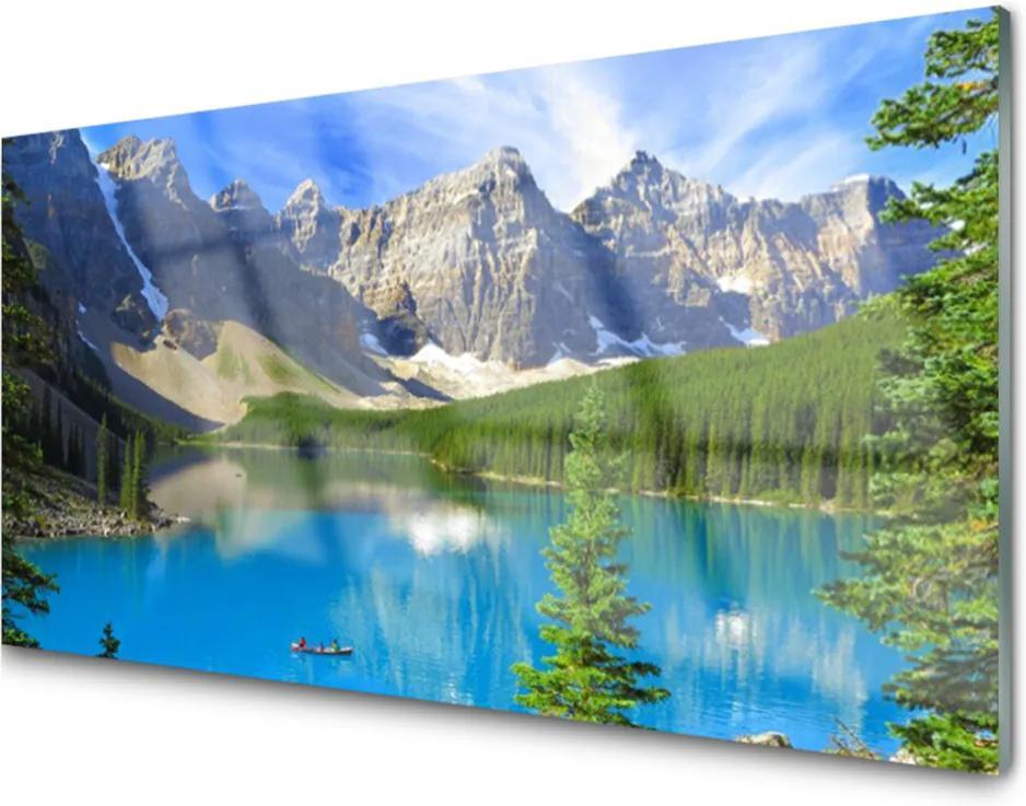 Skleněný obraz Jezero hora les krajina