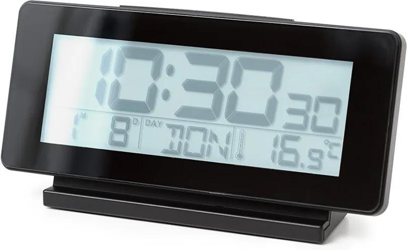 Stolové hodiny/budík BALVI iTime, čierne 26587