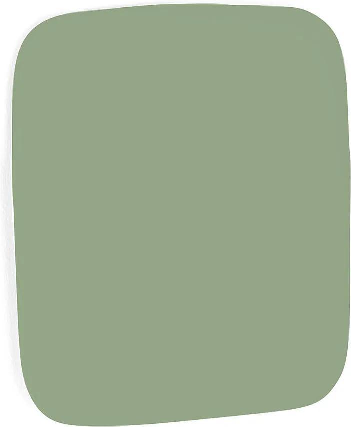Sklenená magnetická tabuľa Stella so zaoblenými rohmi, 300x300 mm, pastelová zelená