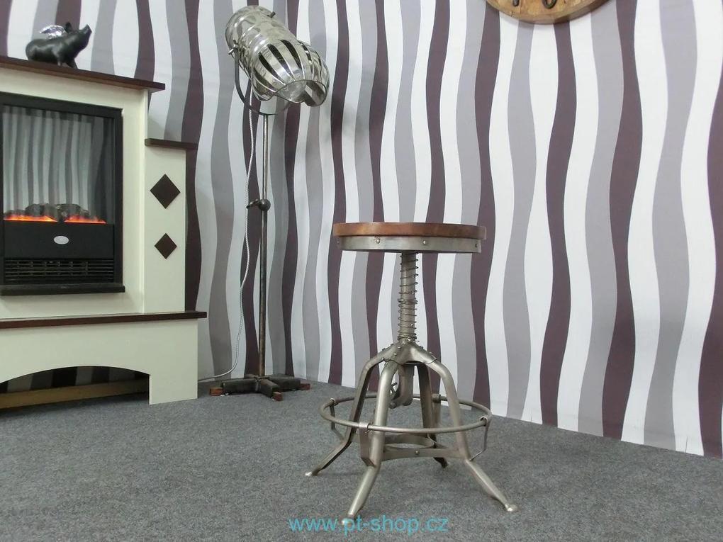 (1676) DURHAM - Industriálna barová stolička