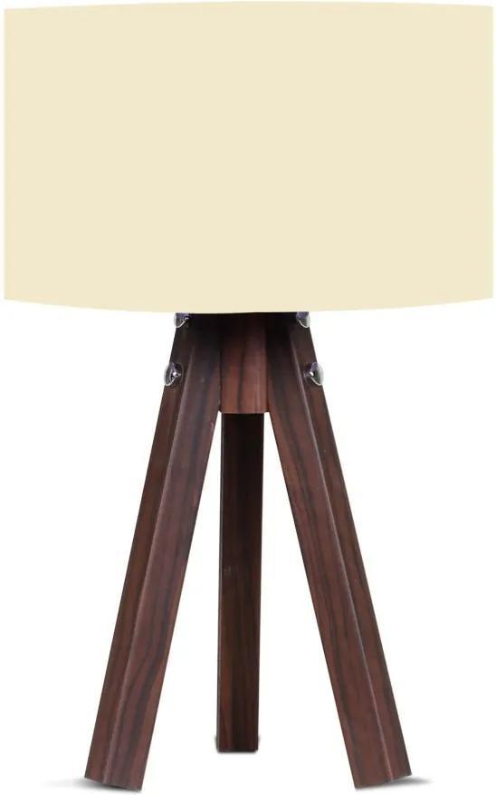 Stolová lampa s béžovým tienidlom Kate Louise Kahve