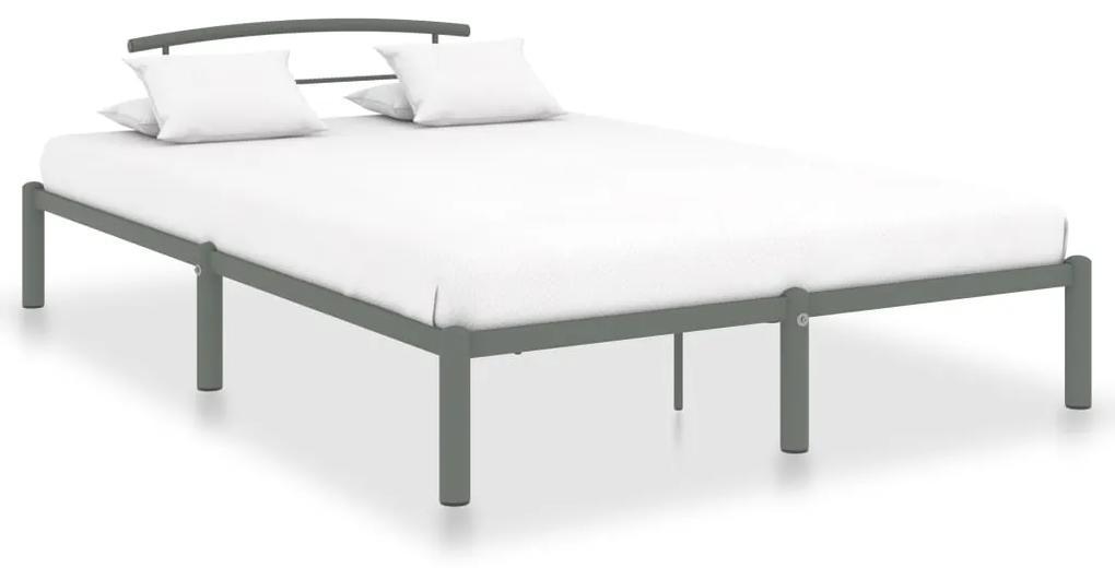 vidaXL Posteľný rám sivý 160x200 cm kovový
