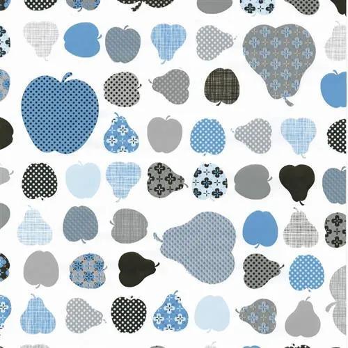 Samolepiace fólie jablká modré, metráž, šírka 45cm, návin 15m, GEKKOFIX 12852, samolepiace tapety