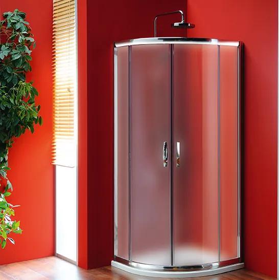 GELCO - SIGMA štvrťkruhová sprchová zástena 800x800mm, R550, 2dvere, sklo Brick (SG3158)
