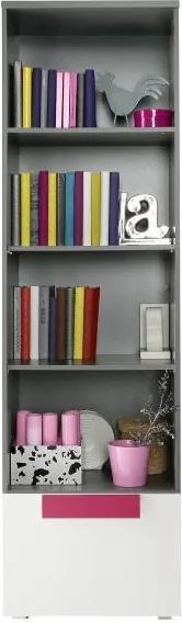 Vitrína, šedá / bílá / fialová, LOBETE 81 0000071583 Tempo Kondela