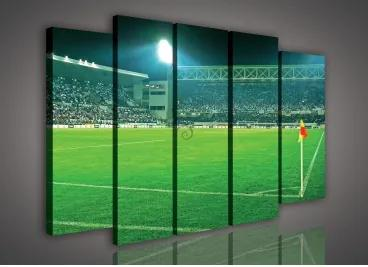 Obraz na plátne viacdielny - OB2710 - Futbalový štadión 150cm x 100cm - S12