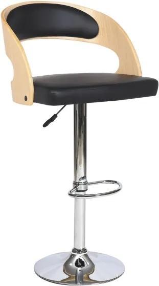 Najlacnejsinabytok C-091 barová stolička, dub/čierna