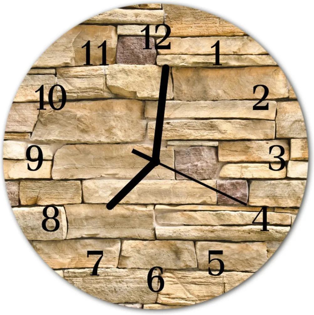 Skleněné hodiny kulaté stěna