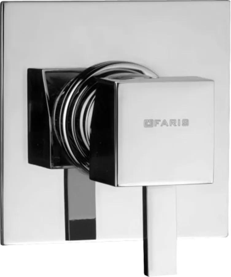 SQUARE Faris Square- sprchová batéria pod omietku, komplet, chróm SQ419