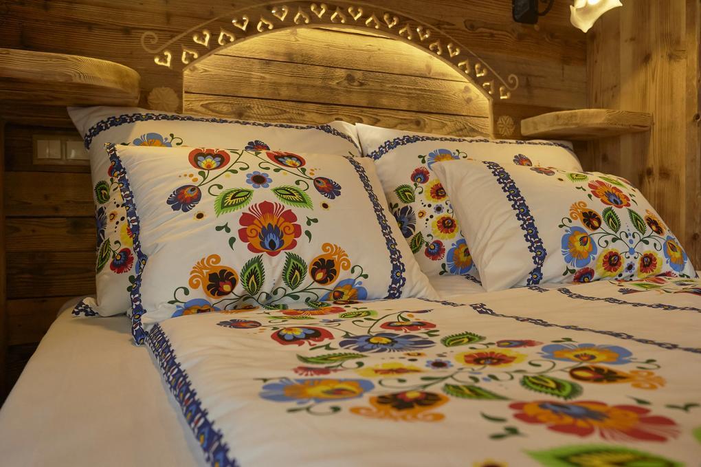 Obliečka na vankúš  Folklór Modrý prúžok 70x90cm