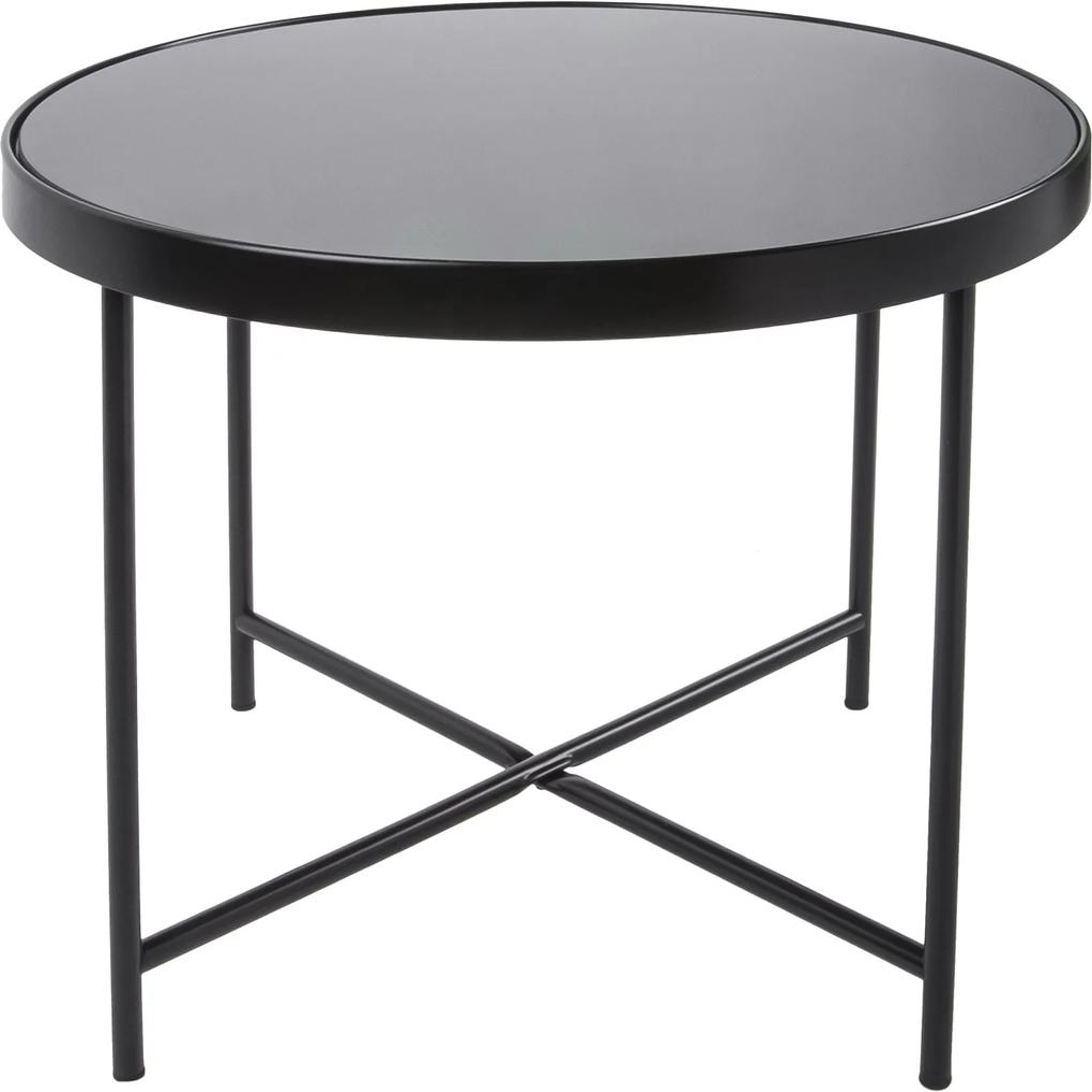 LEITMOTIV Veľký čierny stolík so sklenenou doskou - zl'ava 20% (VEMZUDNI20)