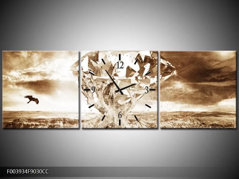 Obrazy s hodinami uprostred