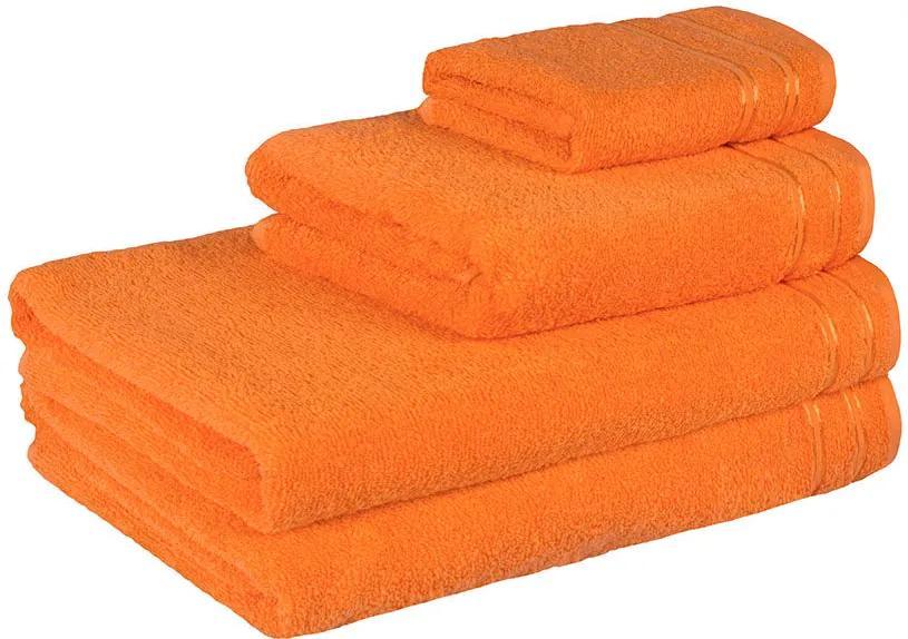 Škodák Froté uterák / osuška Nina vzor 008 oranžový - Uterák 50 x 100 cm