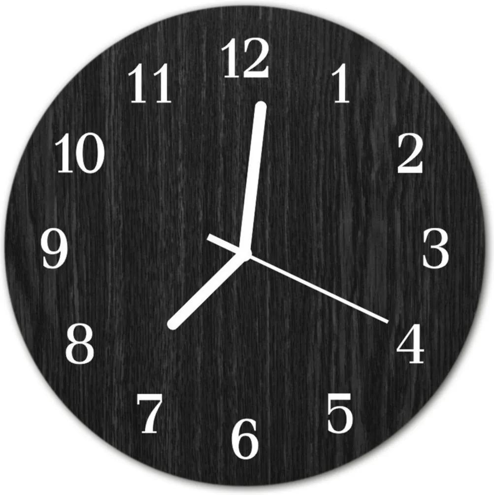 Skleněné hodiny kulaté dříví