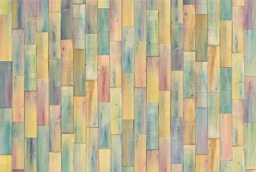 Vliesové fototapety, rozmer 368 cm x 248 cm, drevené farebné obloženie, Komar XXL4-028