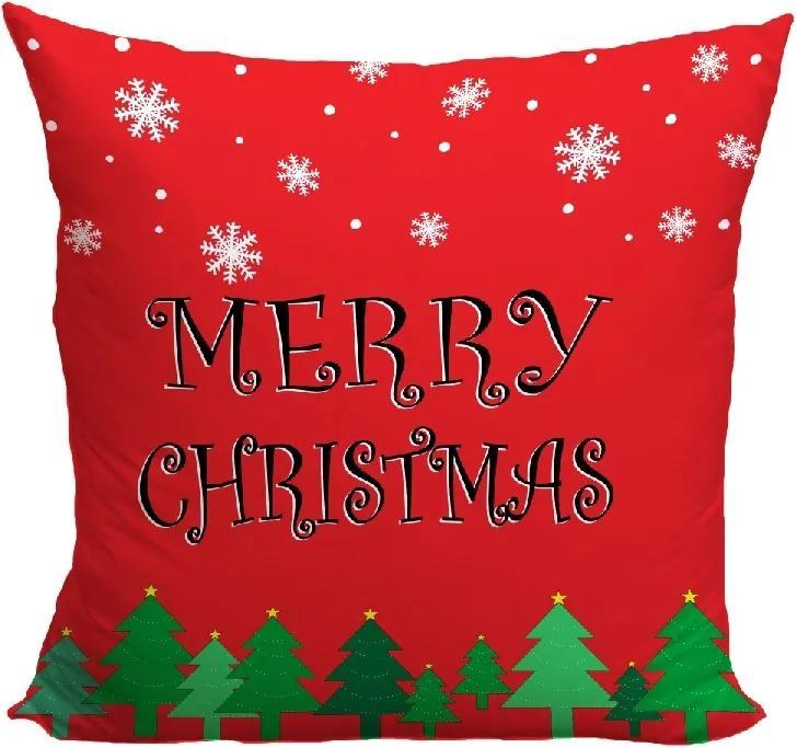 Vankúš Merry Christmas (Veľkosť: 40 x 40 cm)