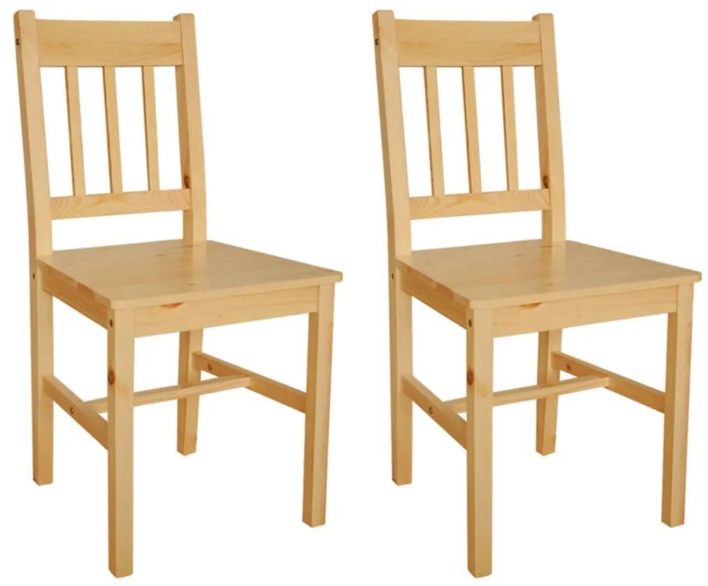 vidaXL Jedálenské stoličky 2 ks, borovicové drevo