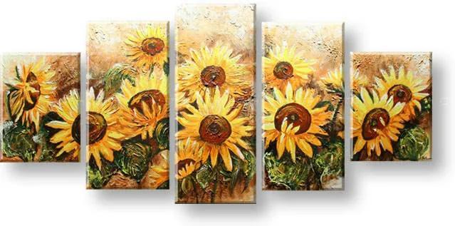 Maľovaný obraz na stenu KVETY FB402E5