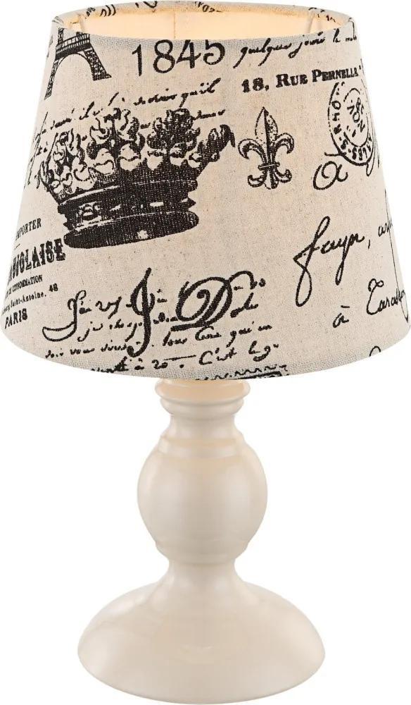 Globo 21692 Nočná stolová lampa kávový 1 x E14 max. 40w 28 x 17 x 17 cm