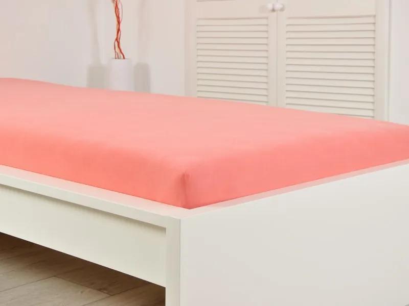 B.E.S. Petrovice Froté elastické prestieradlo atypický rozmer ružová 140x200 (190g / m2)