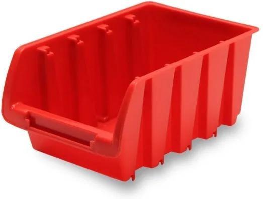 DEMA Plastový zásobník 165x105x75 mm, červený
