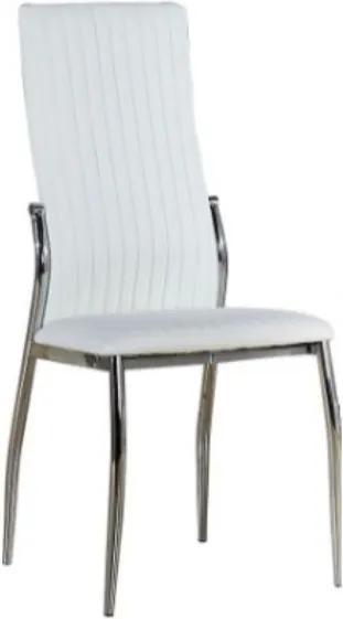 TEMPO KONDELA Malisa jedálenská stolička biela / chrómová