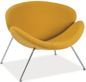 DIRECT  kreslo Žltá