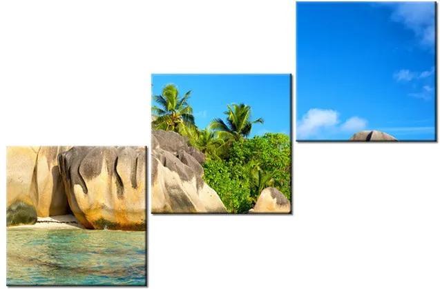 Tlačený obraz Nádherný ostrov La Digue 120x80cm 2416A_3O