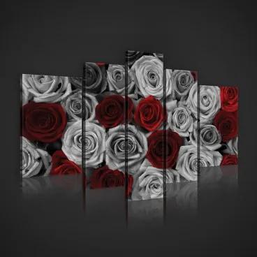 Obraz na plátne viacdielny - OB2438 - Ruže 170cm x 100cm - S4A