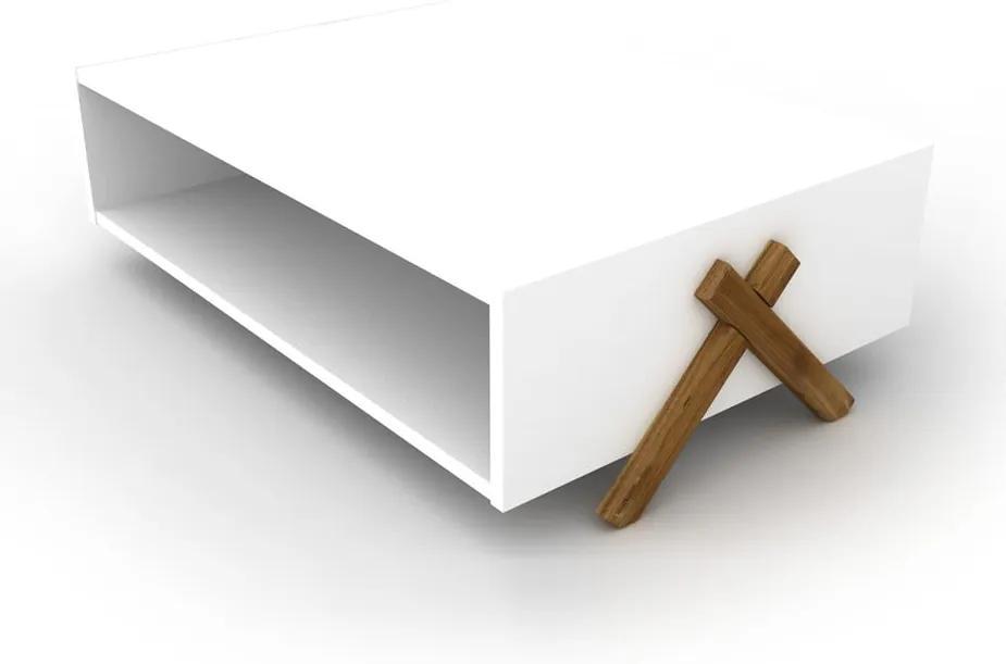 Biely konferenčný stolík Rafevi Kipp