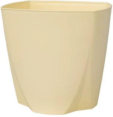 Plastia Plastový kvetináč Camy 16 cm, vanilková , pr.16 cm