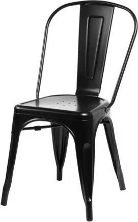 PARIS stolička Čierna