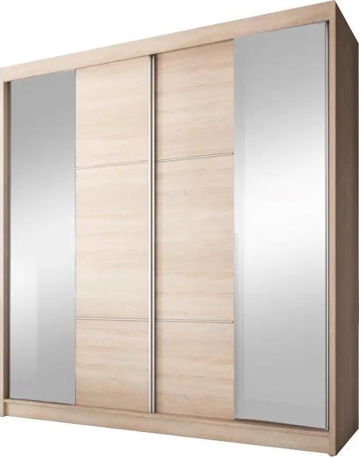 Skriňa s posúvacími dverami, dub sonoma, 183x218, MULTI 36