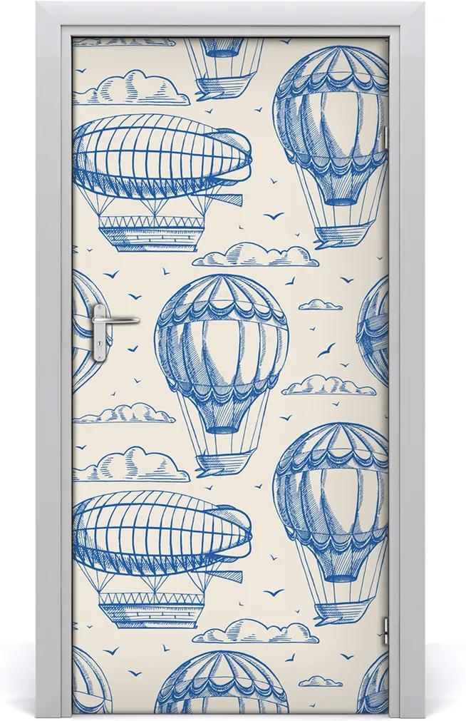 Samolepící fototapeta na dveře Vzducholoď balóny