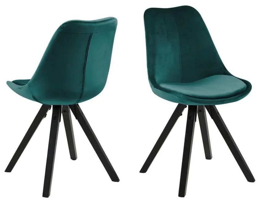 Zelená jedálenská stolička Actona Dima