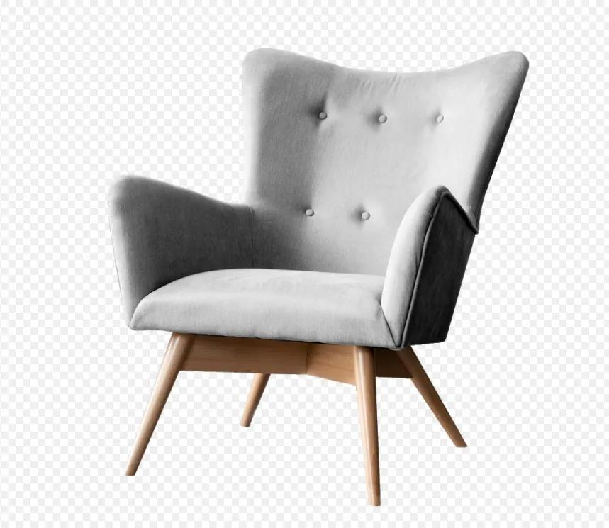 Dizajnové pohodlné kreslo Drem, svetlo šedé