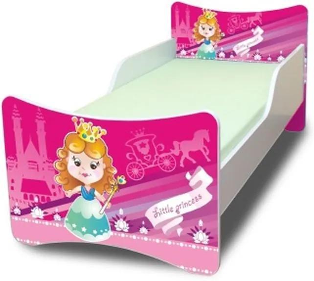 MAXMAX Detská posteľ 180x80 cm - MALÁ PRINCEZNA 180x80 pre dievča NIE