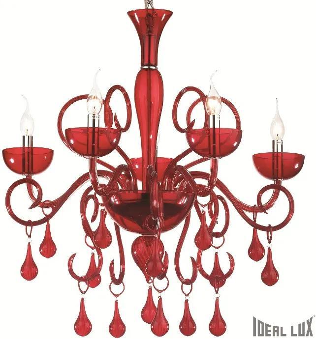 Ideal Lux I073453 luster Rosso 5x40W | E14
