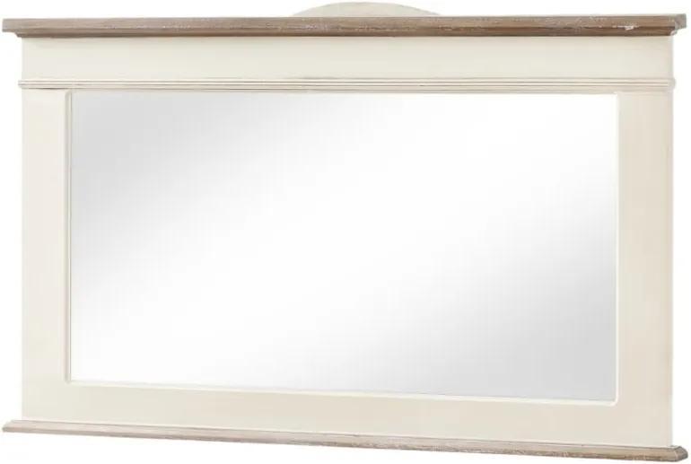 Zrkadlo v krémovobielom ráme z topoľového dreva Livin Hill Rimini, výška 57 cm