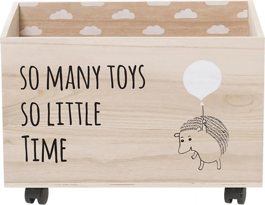 Bloomingville Úložný box na kolieskach So Many Toys